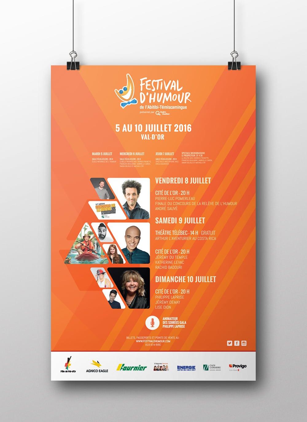 Affiche Festival d'humour