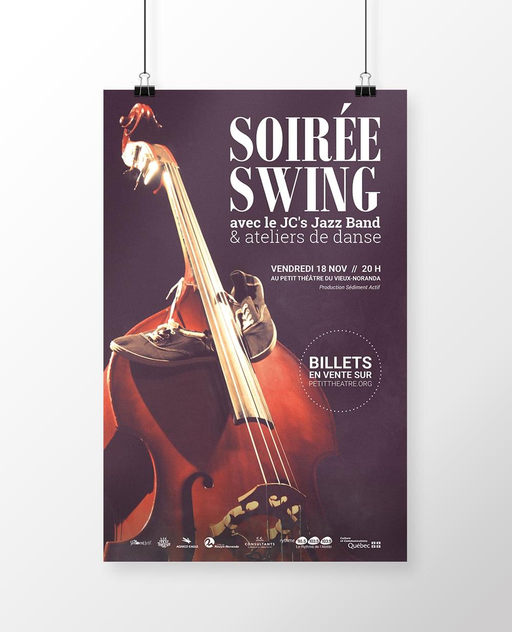 Affiche Soirée Swing